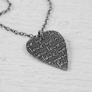 Handmade Personalised Silver Heart Necklace