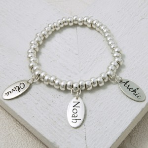 Handmade Personalised Etched Name Slinky Bracelet 3