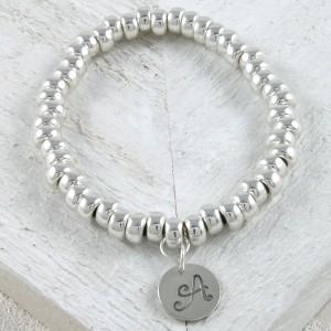 Personalised sterling silver slinky bracelet 2