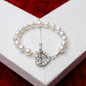 White freshwater pearl bracelet 5