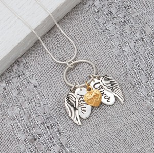 Alfie and Oliver Personalised Charm Necklace