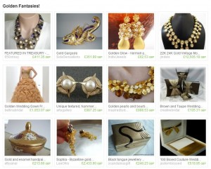 Etsy Treasury Golden Fantasies